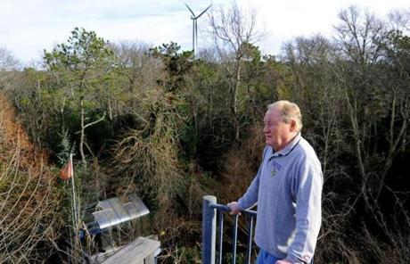 """The first time I heard it, I couldn't believe it could make that much noise,"" he says of the turbines."